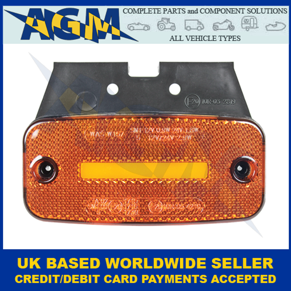 Guardian Automotive ML100DI, Amber LED Side Marker With Neon Effect And Direction Indicator, 12-24v