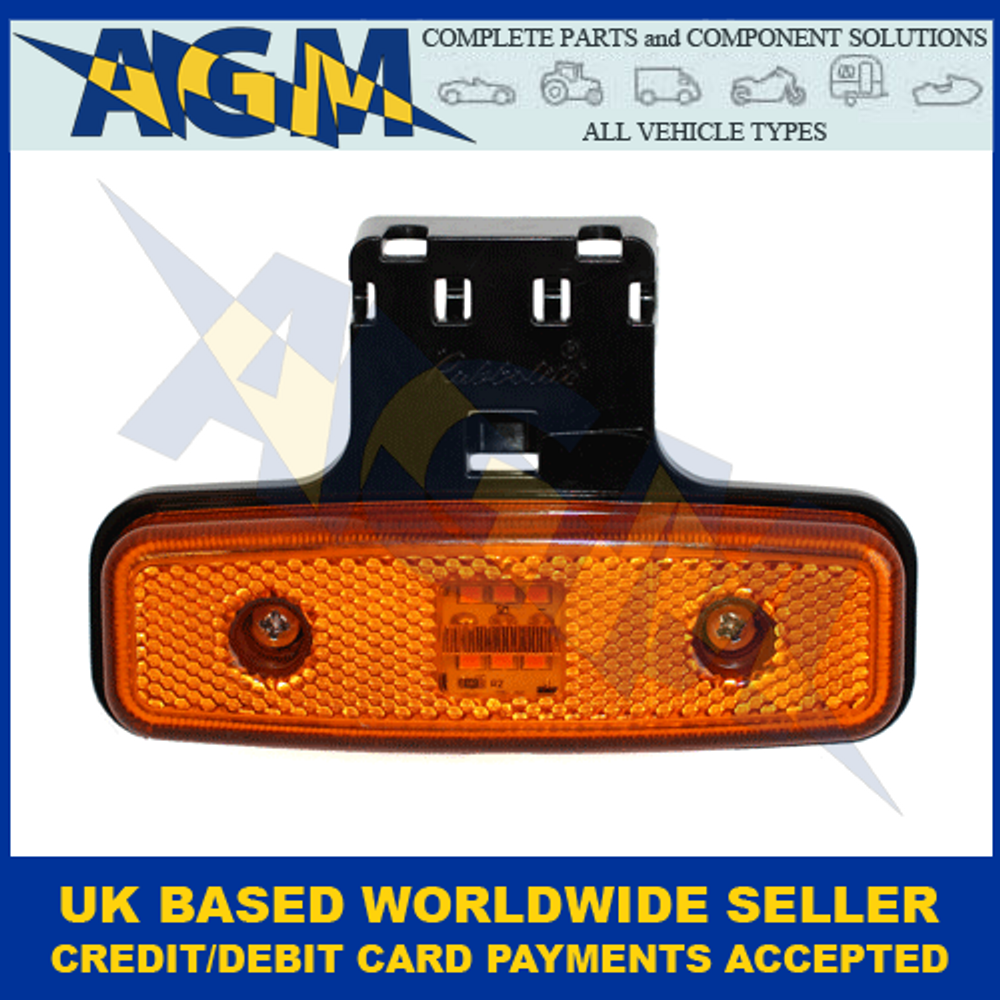 TruckLite 871/23/05, Amber LED, Side Marker, Cat 5 With Fly-Lead And Bracket, 24v