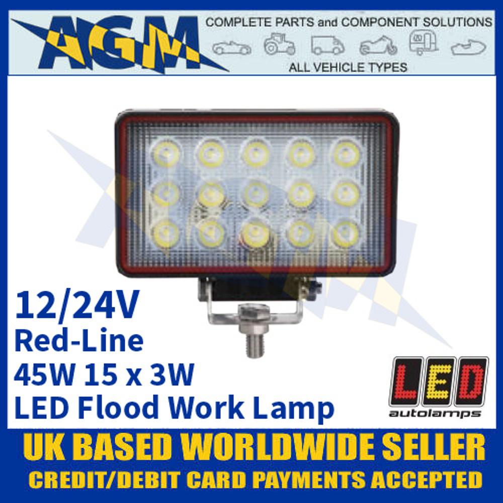LED Autolamps RL15545BM LED Flood/Work Lamp 45W - 15 x 3W LED's