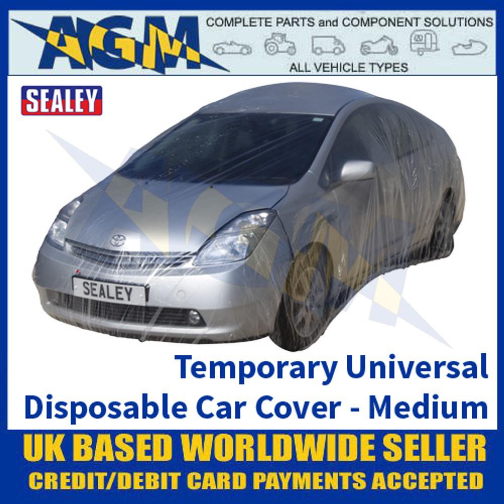 Sealey TDCCM Temporary Universal Disposable Car Cover Medium