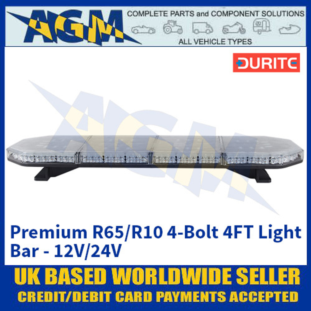 Durite 0-443-34 Premium R65/R10 4-Bolt 4FT Light Bar - 12V/24V