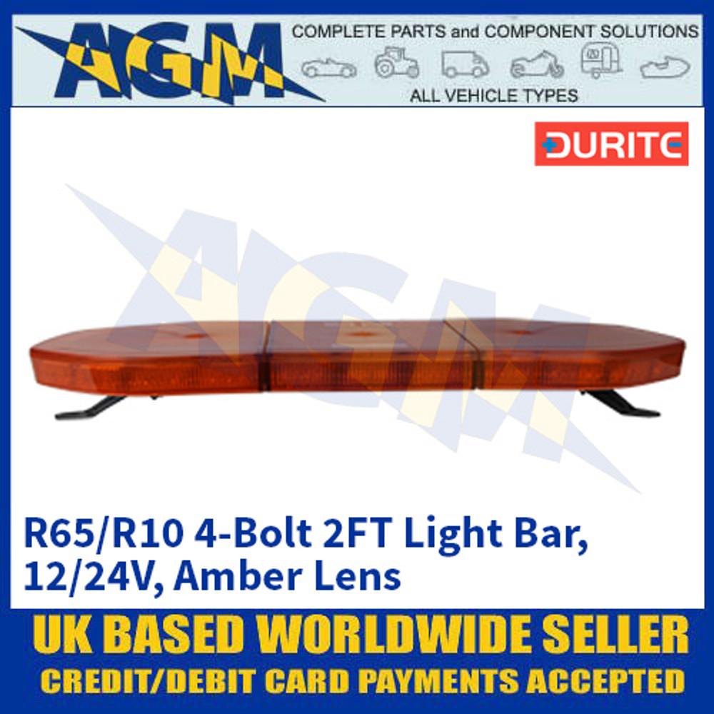 Durite 0-443-48 R65/R10 4-Bolt 2FT Light Bar - 12/24V, Amber Lens