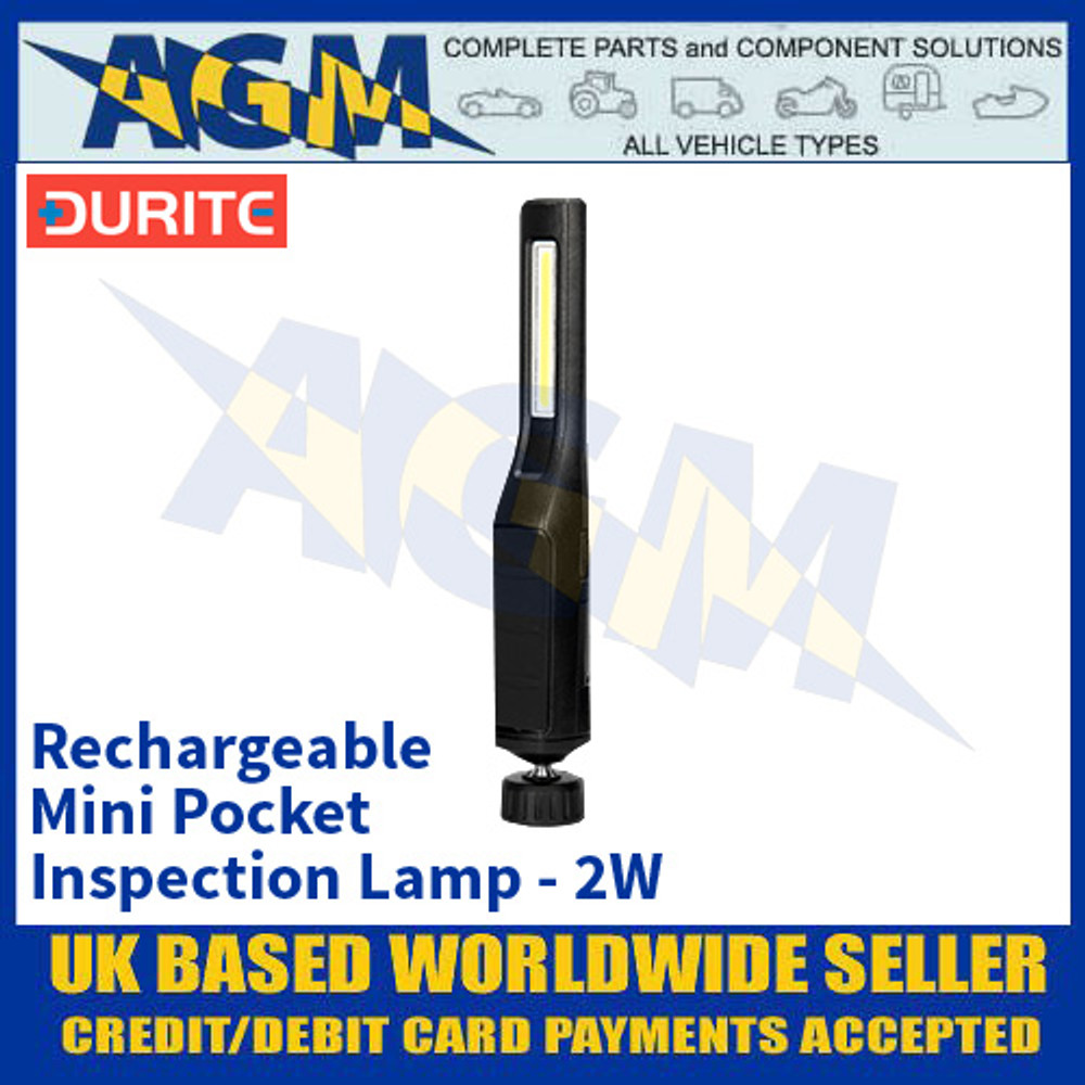 Durite 0-699-71 Rechargeable Mini Pocket Inspection Lamp - 2W
