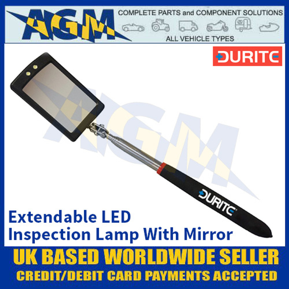 Durite 0-222-25 Extendable LED Inspection Lamp With Mirror