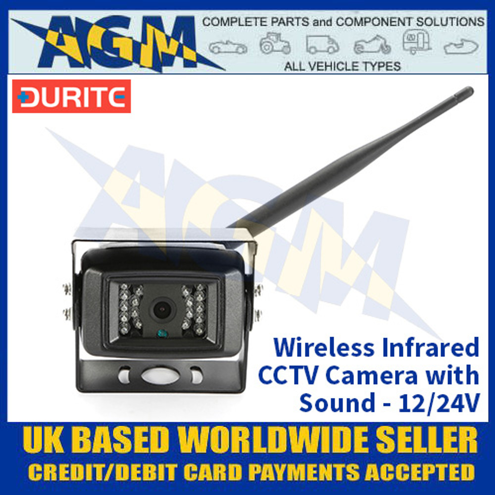Durite 0-775-29 Wireless Infrared CCTV Camera With Sound - 12/24V
