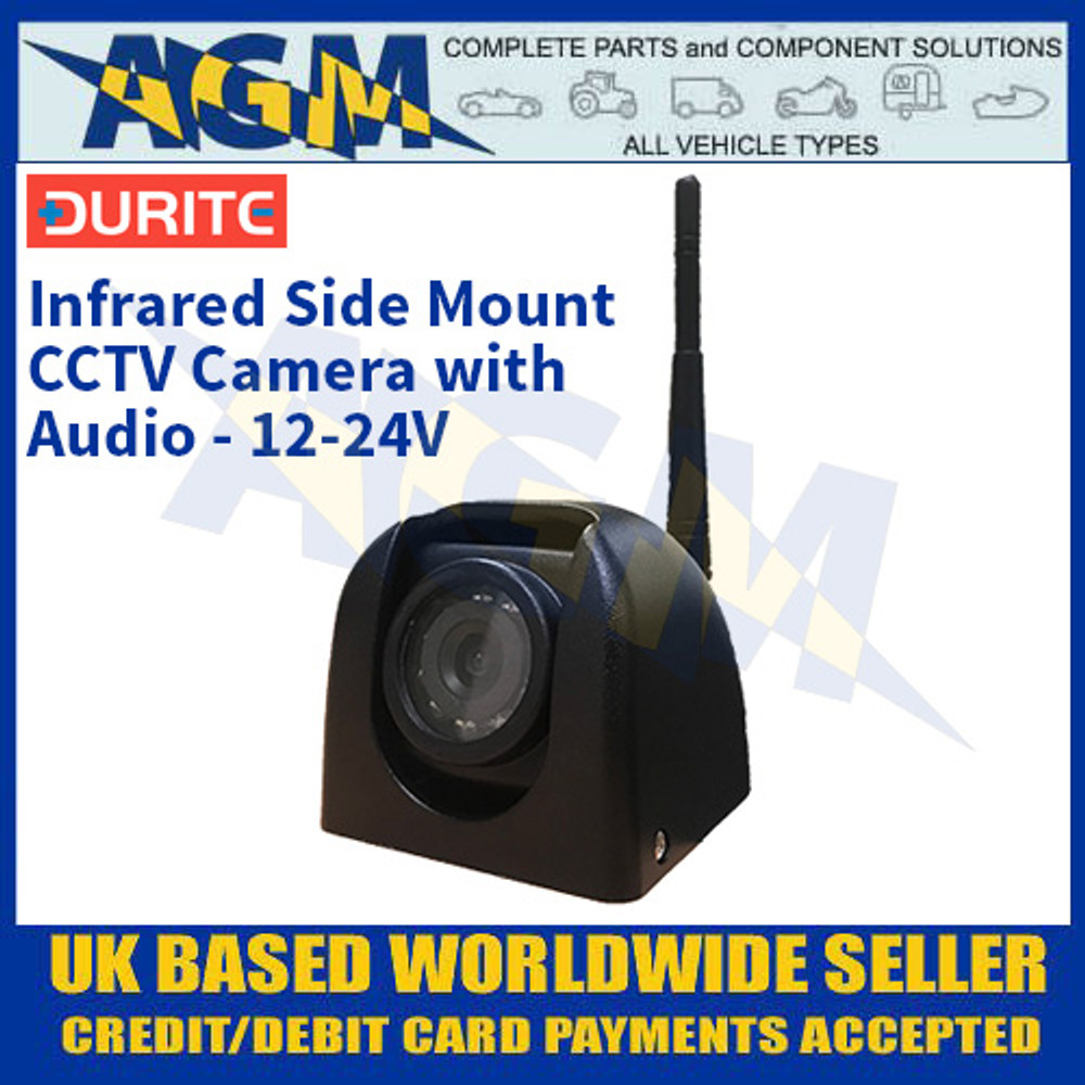 Durite 0-775-63 Infrared Side Mount CCTV Camera With Audio - 12-24V