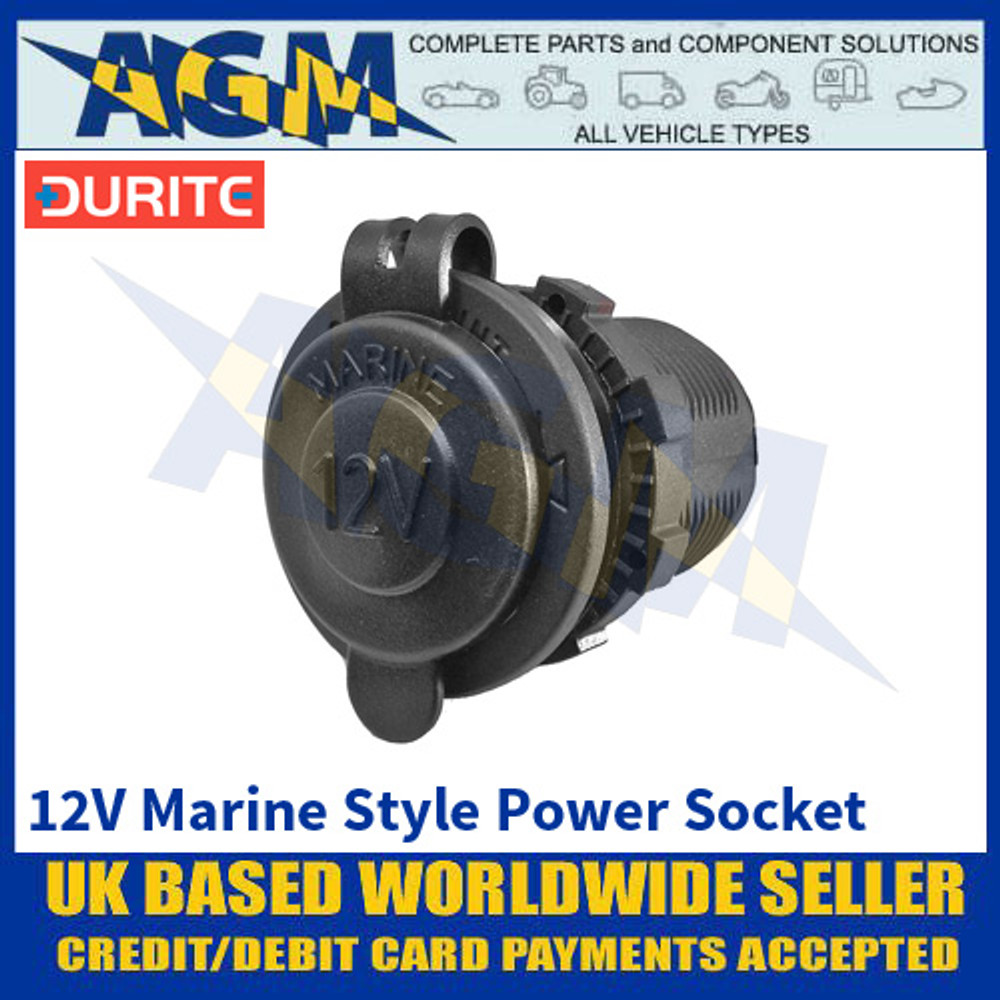 Durite 0-601-07 12 Volt Marine Style Power Socket