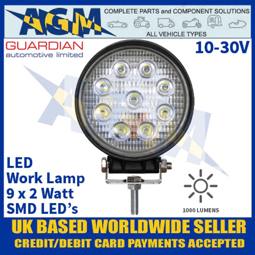 Guardian Automotive WL52E Value LED Work Lamp - Muti Voltage 10-30V