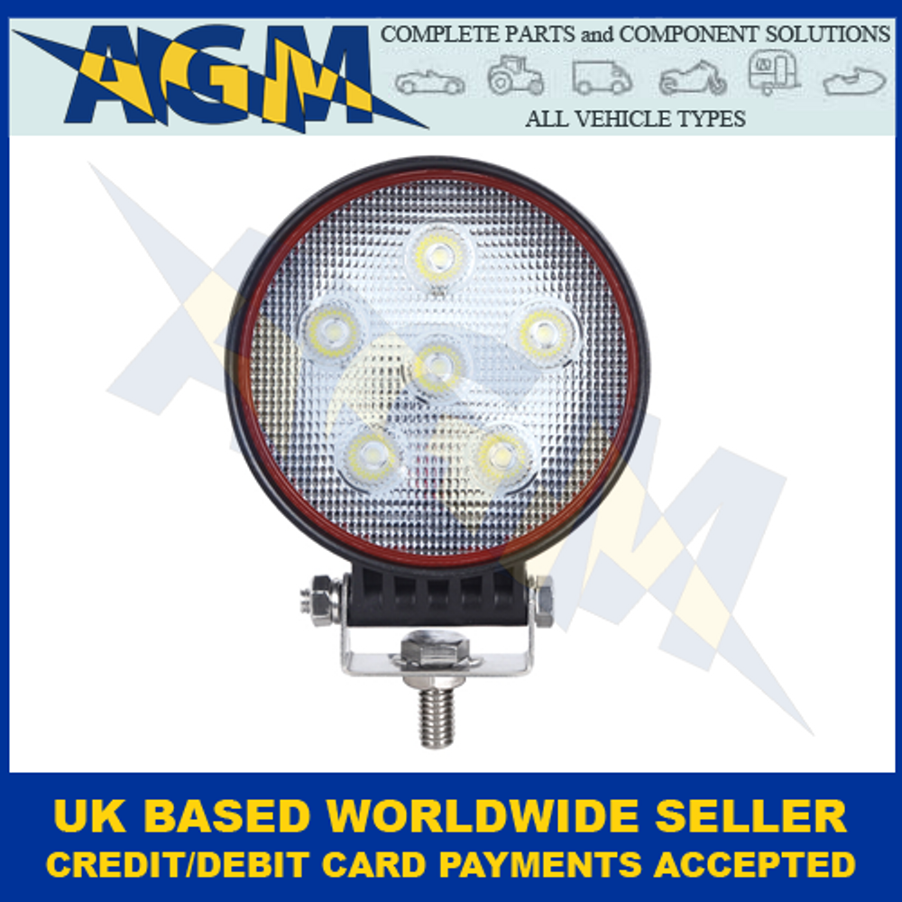 LED Autolamps RL10818BM, 18W, Round, Flood Lamp, 12/24 Volt