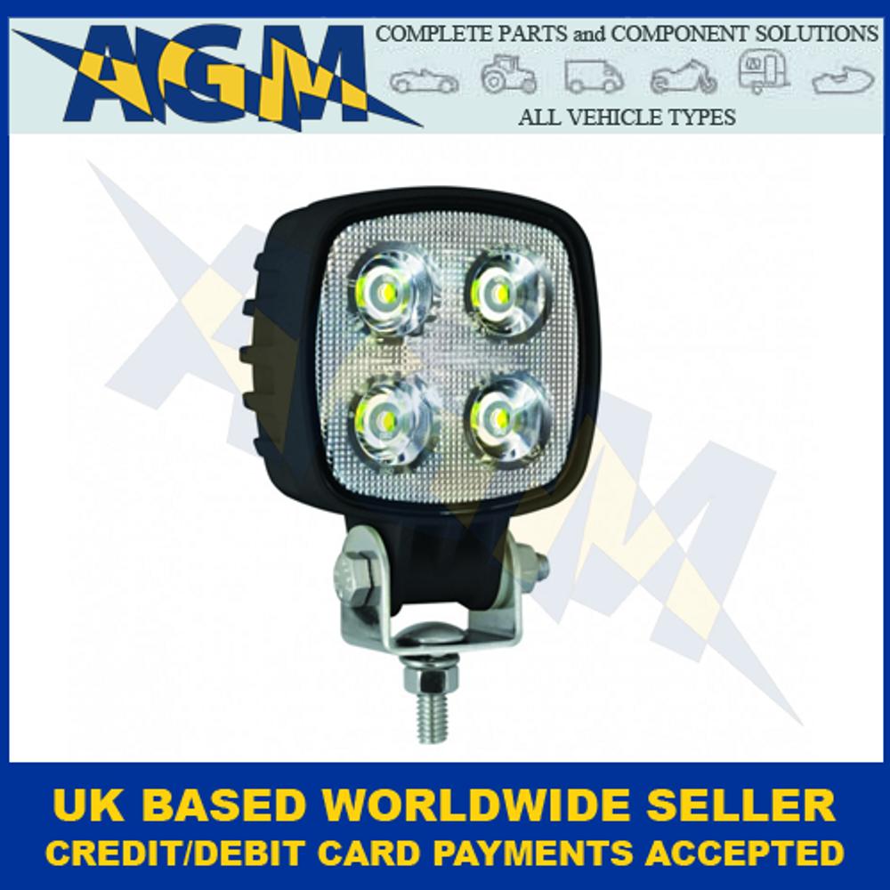 LED Autolamps 8112BM, Compact, Square Work Lamp, Black, 12/24 Volt