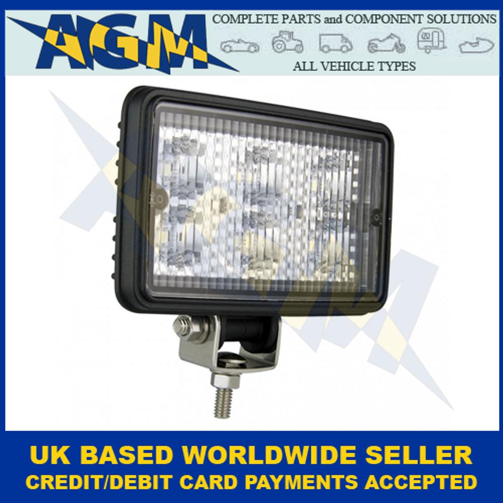 LED Autolamps 7451BM, Rectangular Work Lamp, Black, 12/24 Volt