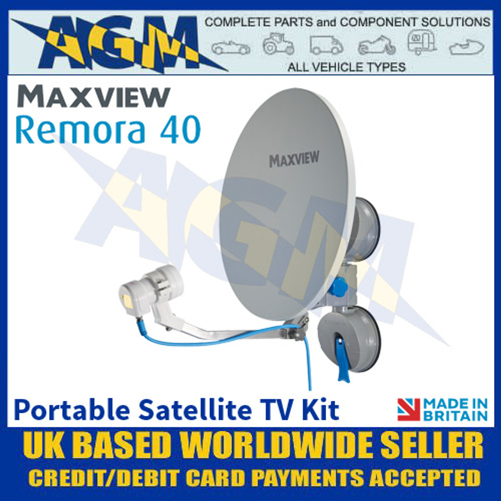Maxview Remora 40, Portable Satellite TV Kit, Suction Mount