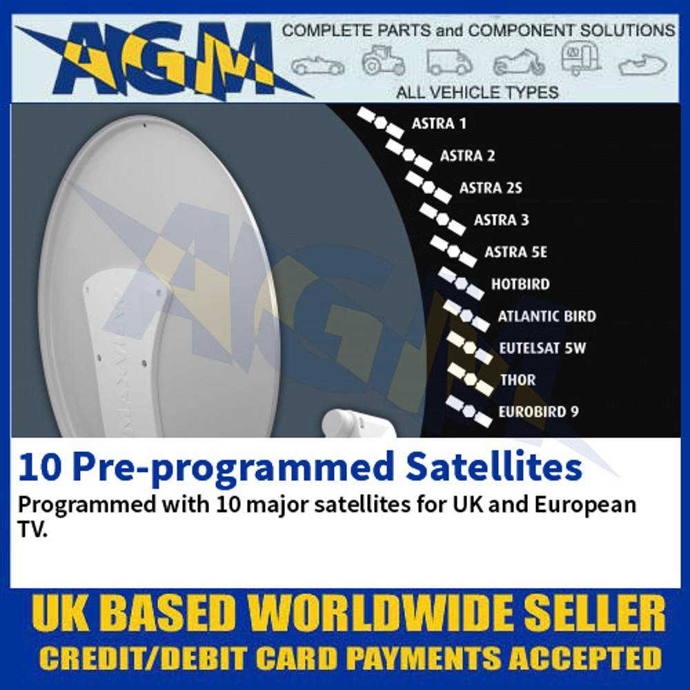 10 Pre-programmed Satellites