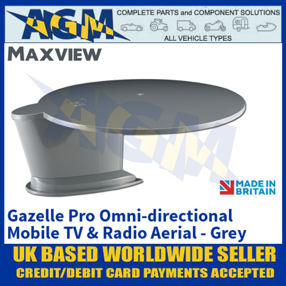 Maxview Gazelle Pro - Grey, Omni-directional Mobile TV and Radio Aerial