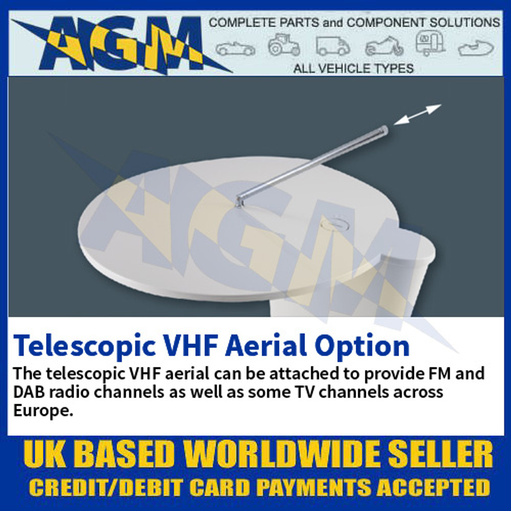 Telescopic VHF Aerial Option