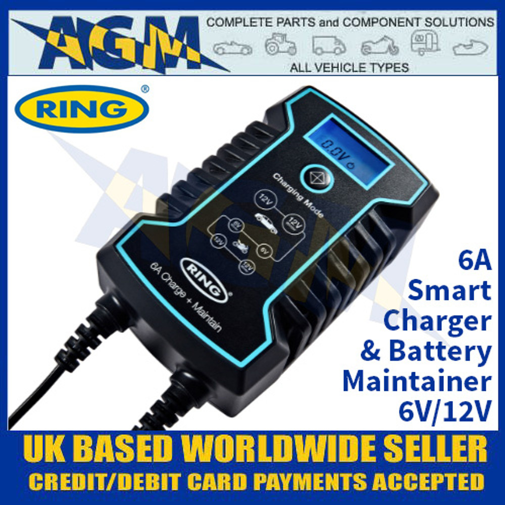 Ring Automotive RCS806 6A Smart Charger and Battery Maintainer