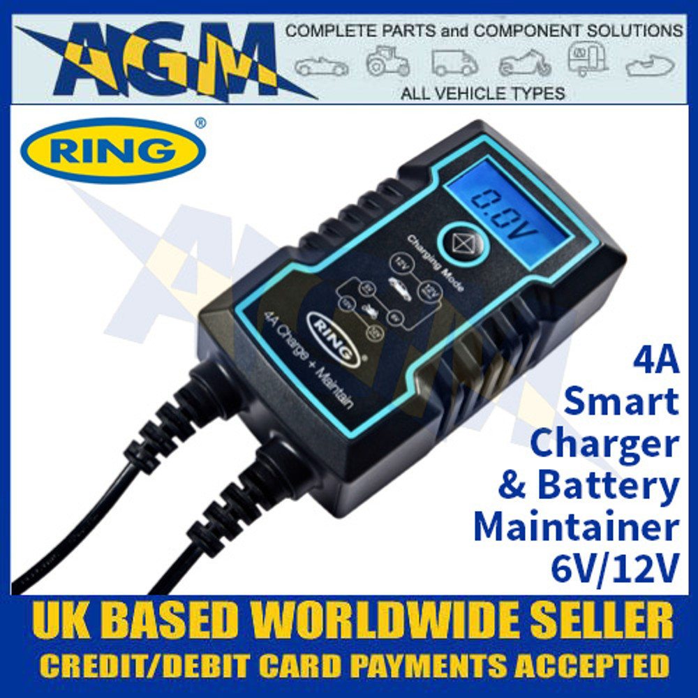 Ring Automotive RCS804 4A Smart Charger and Battery Maintainer
