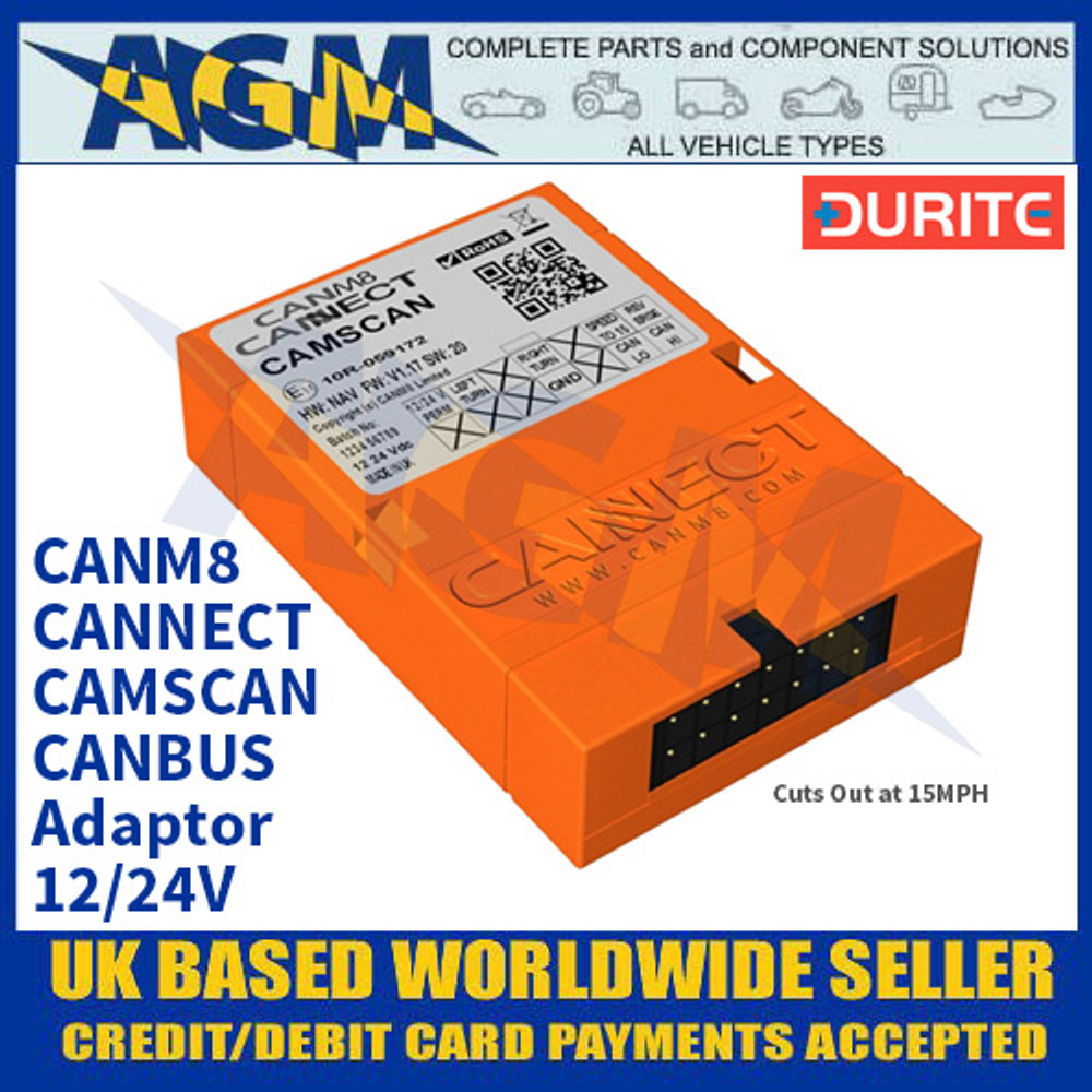 Durite 0-774-50 CANM8 CANNECT CAMSCAN CANBUS Adaptor - 12/24V
