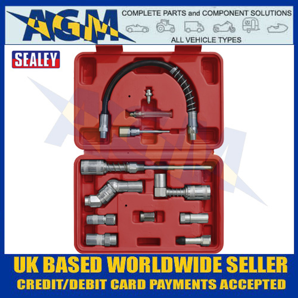 Sealey AK4482 Grease Gun Adaptor Kit 12pc