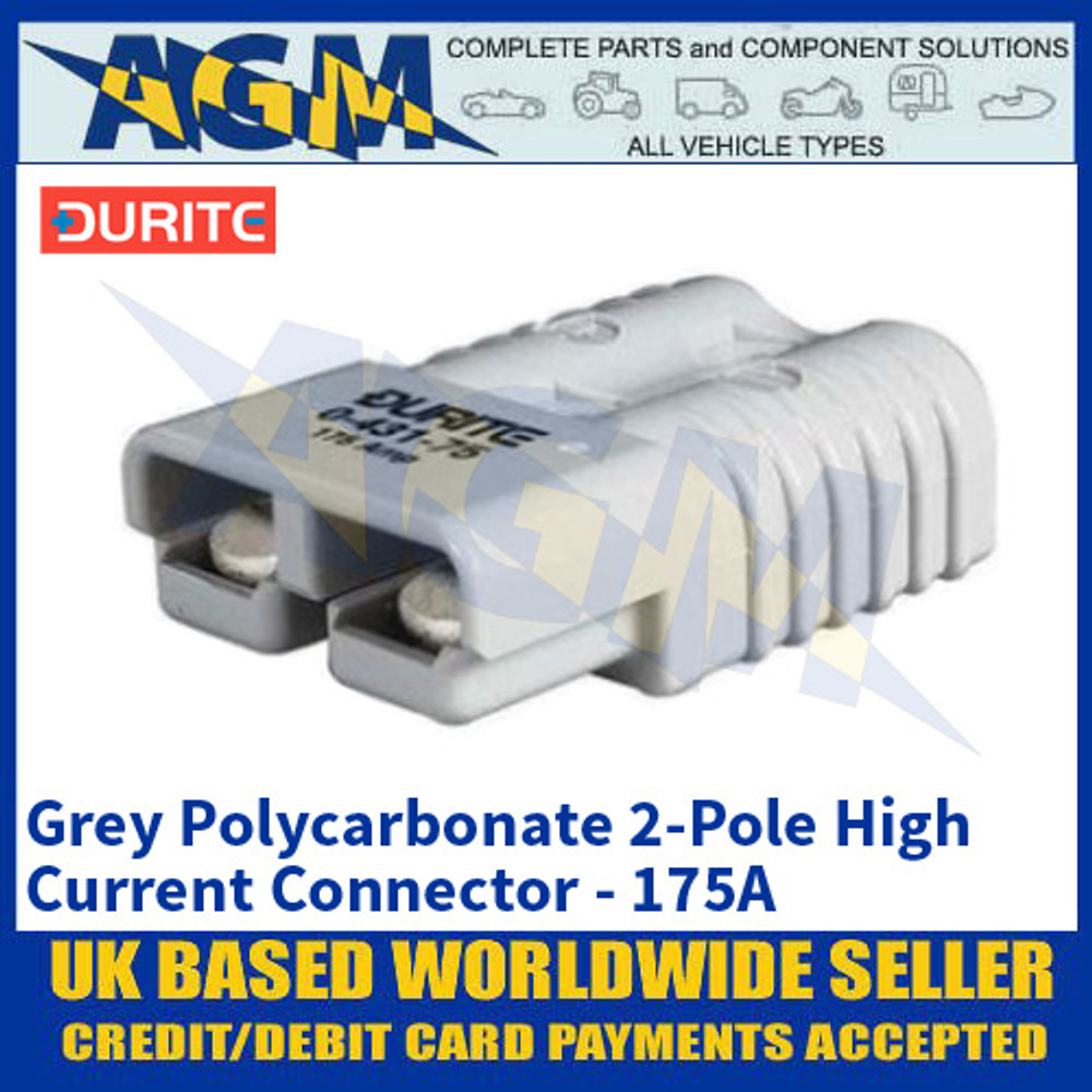 Durite 0-431-75 Grey Polycarbonate 2-Pole High Current Connector - 175A