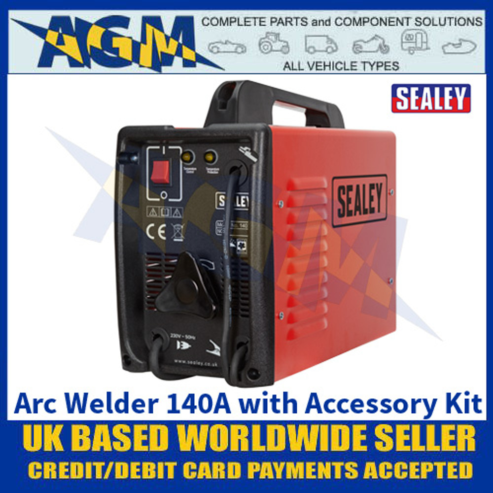 Sealey 140XT Arc Welder 140A with Accessory Kit