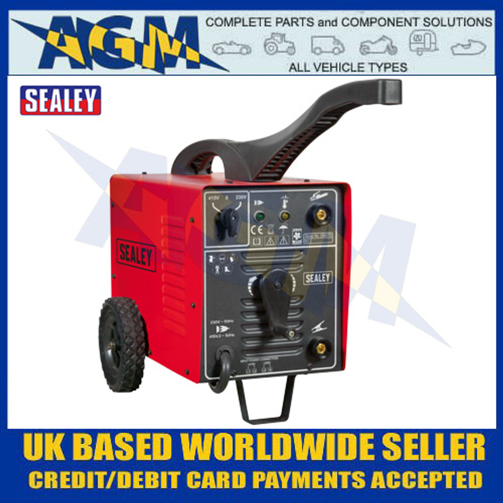 Sealey 250XTD Arc Welder 250Amp 230/415V 3ph with Accessory Kit