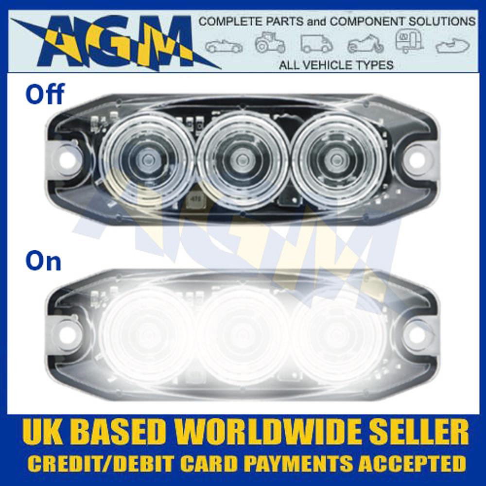 LED Autolamps 11WM Reverse Lamp Clear Lens - Low Profile - 12/24V