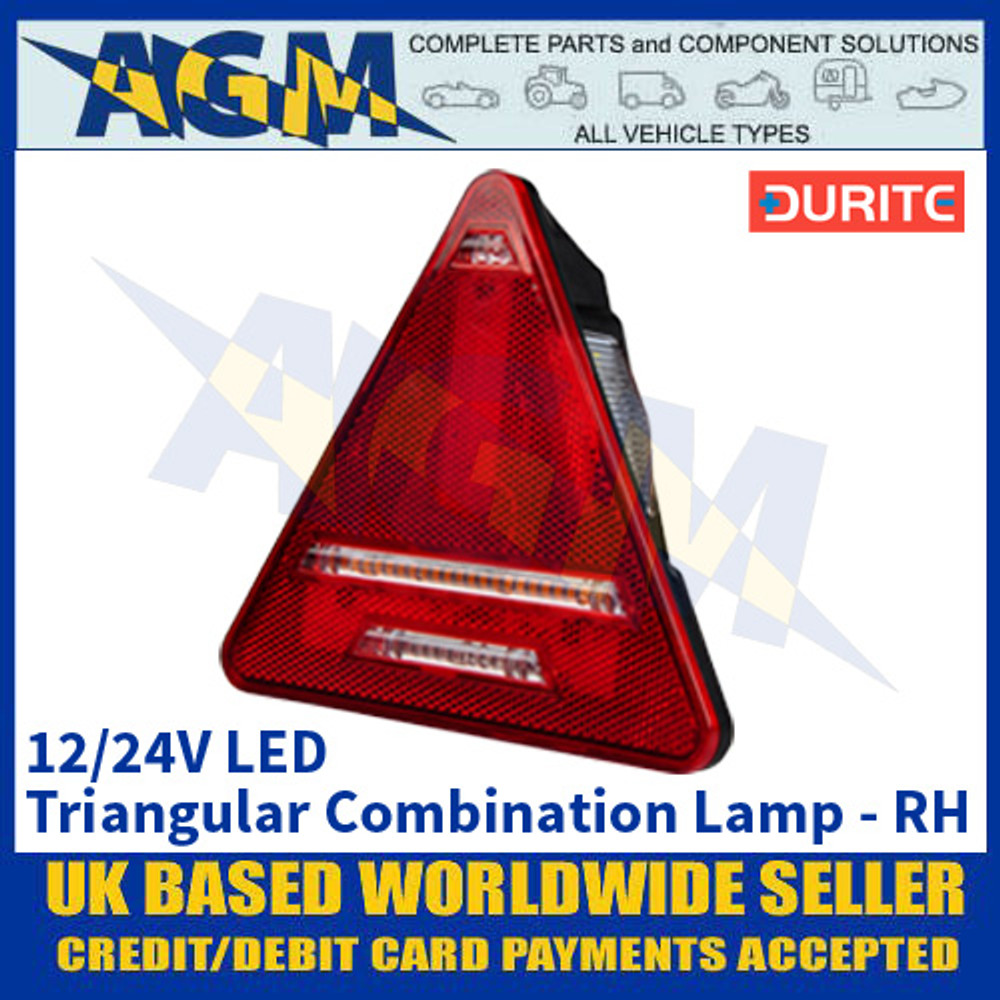Durite 0-300-60 Triangular Trailer Rear Combination Lamp - Right Side Side - 12/24V