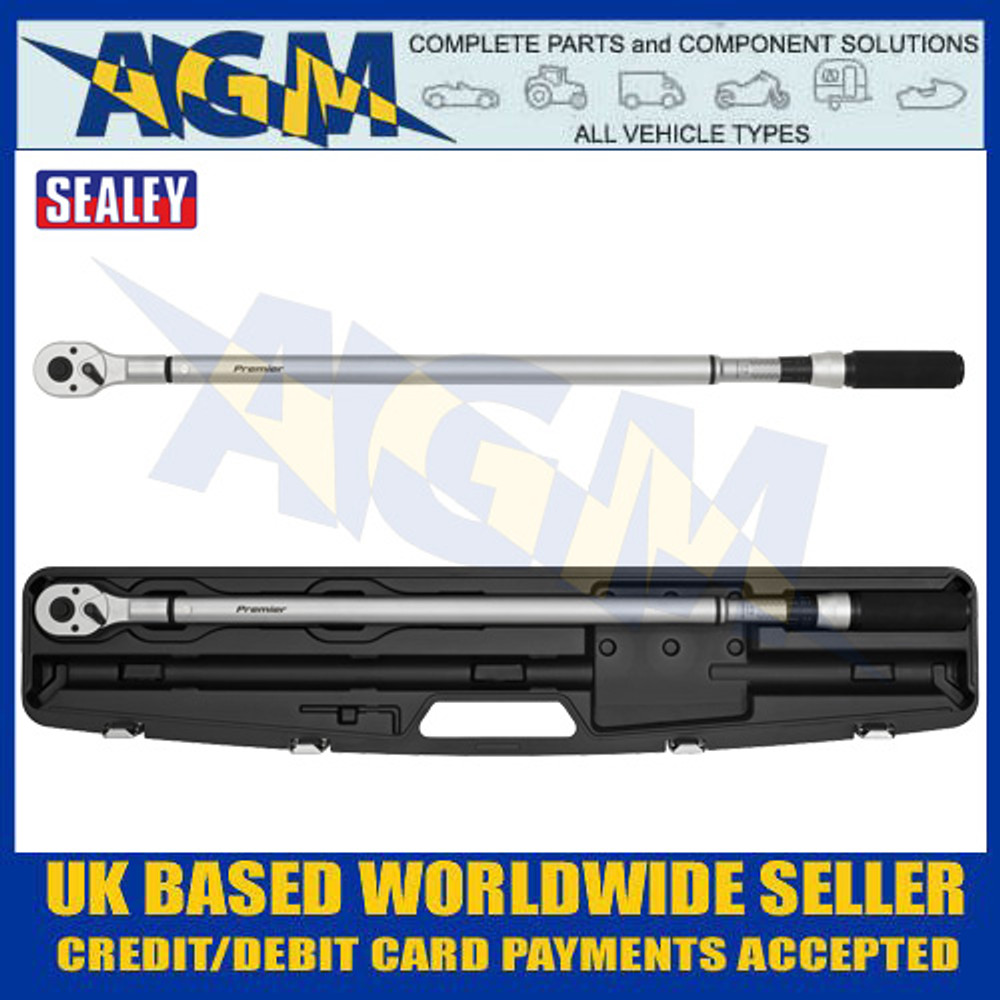 "Sealey STW906 Torque Wrench Micrometer Style 3/4""Sq Drive 100-600Nm - Calibrated"