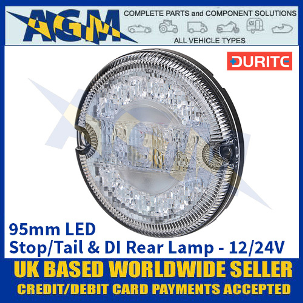 Durite 0-767-40 95mm LED Stop/Tail & DI Rear Lamp - 12/24V