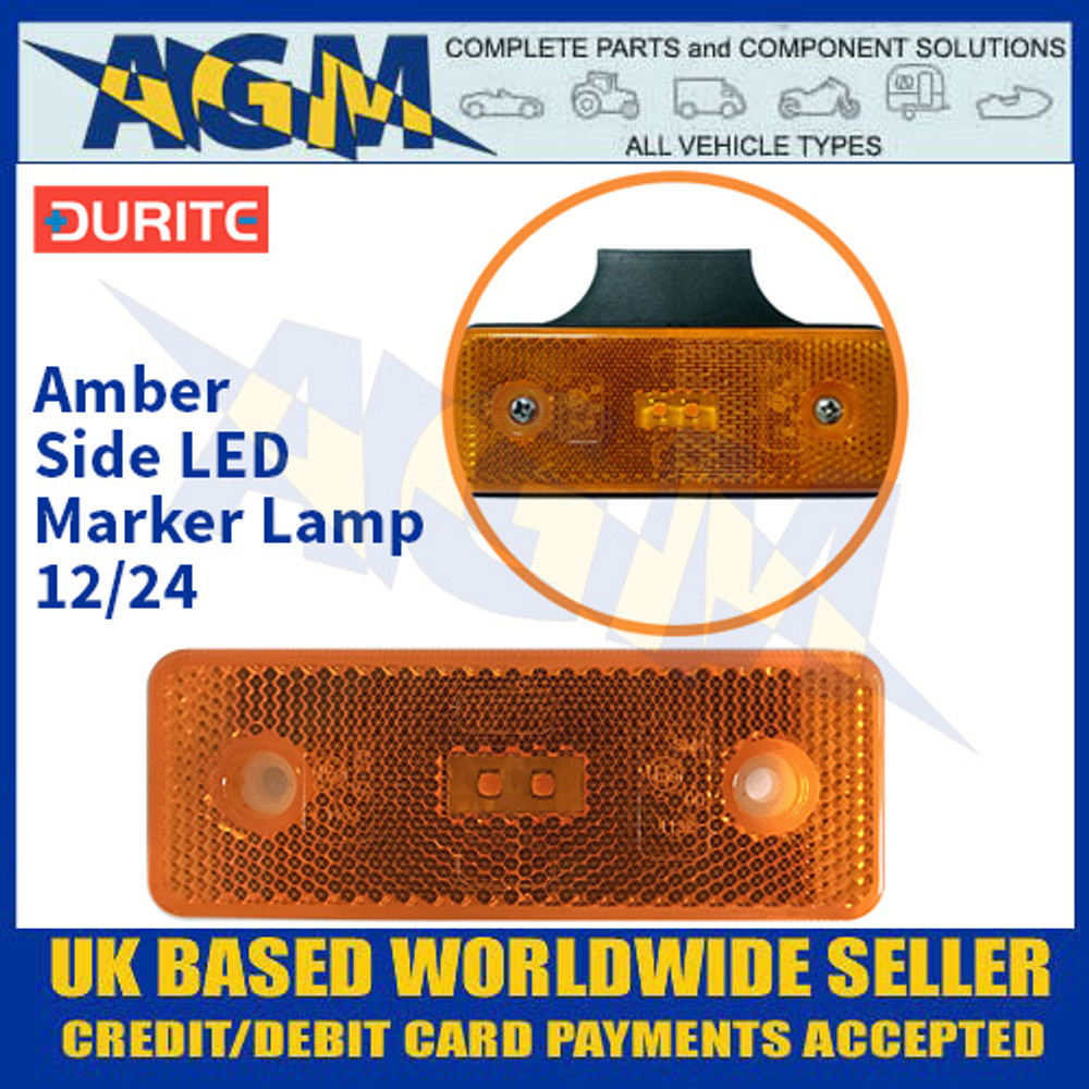 Durite 0-170-90 Amber Side LED Marker Lamp - 12/24V