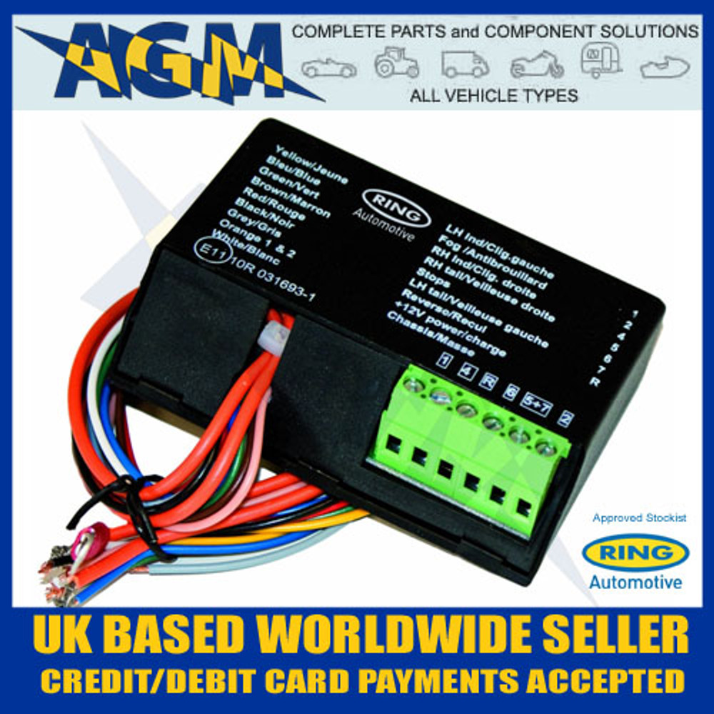 ring rct480 7 way smart bypass towing relay for canbus and multiplex rh agmpartscomponents co uk multiplex wiring in cars multiplex wiring system for motor vehicles