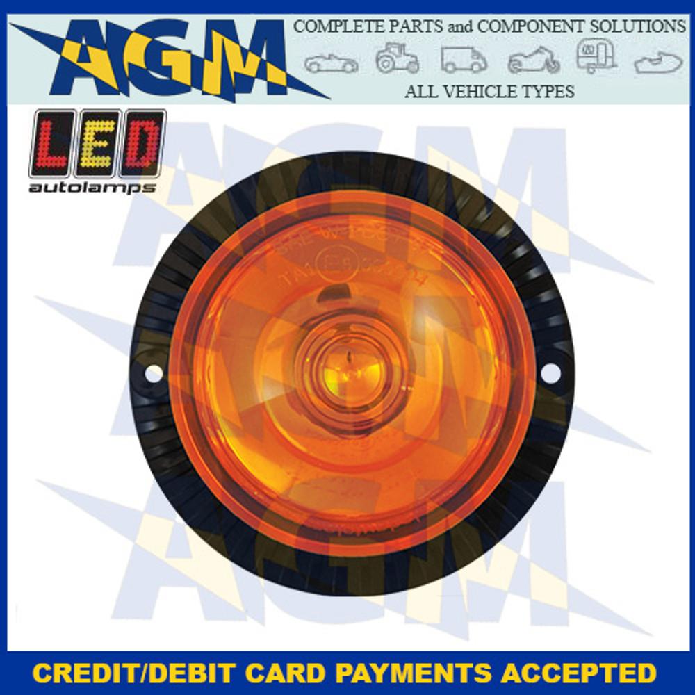 LED Autolamps MB12AM-1 Compact R65 Mini Warning Beacon 10-48v