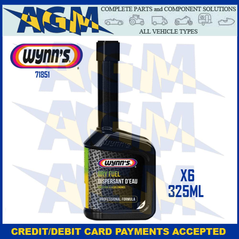 Wynns Professional 71851 Dry Fuel - 325ml Bottle Petrol/Diesel (Pack of 6)
