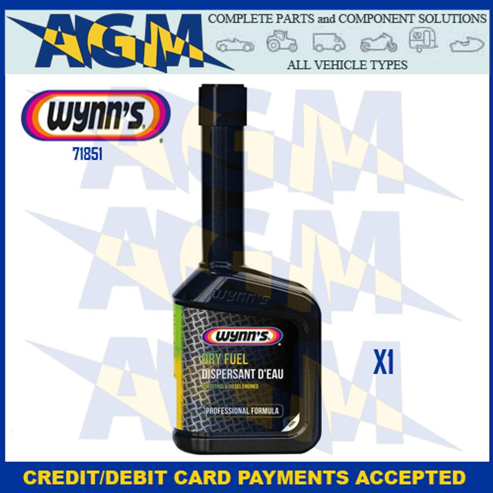 Wynns Professional 71851 Dry Fuel - 325ml Bottle Petrol/Diesel