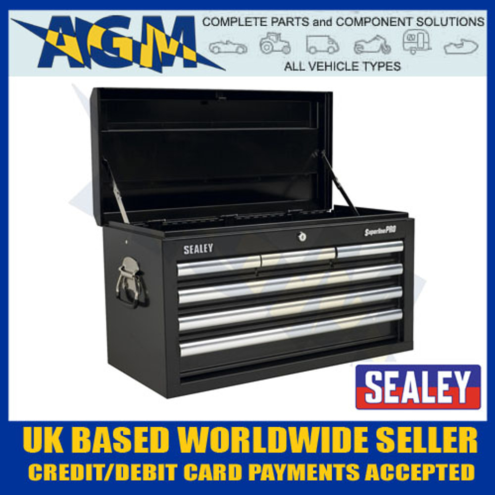 Sealey AP33069B Topchest 6 Drawer with Ball Bearing Runners - Black