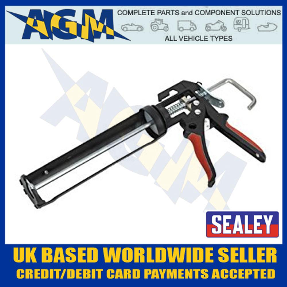 SEALEY AK4801 Caulking Gun Heavy-duty takes 220mm Cartridges of Silicone