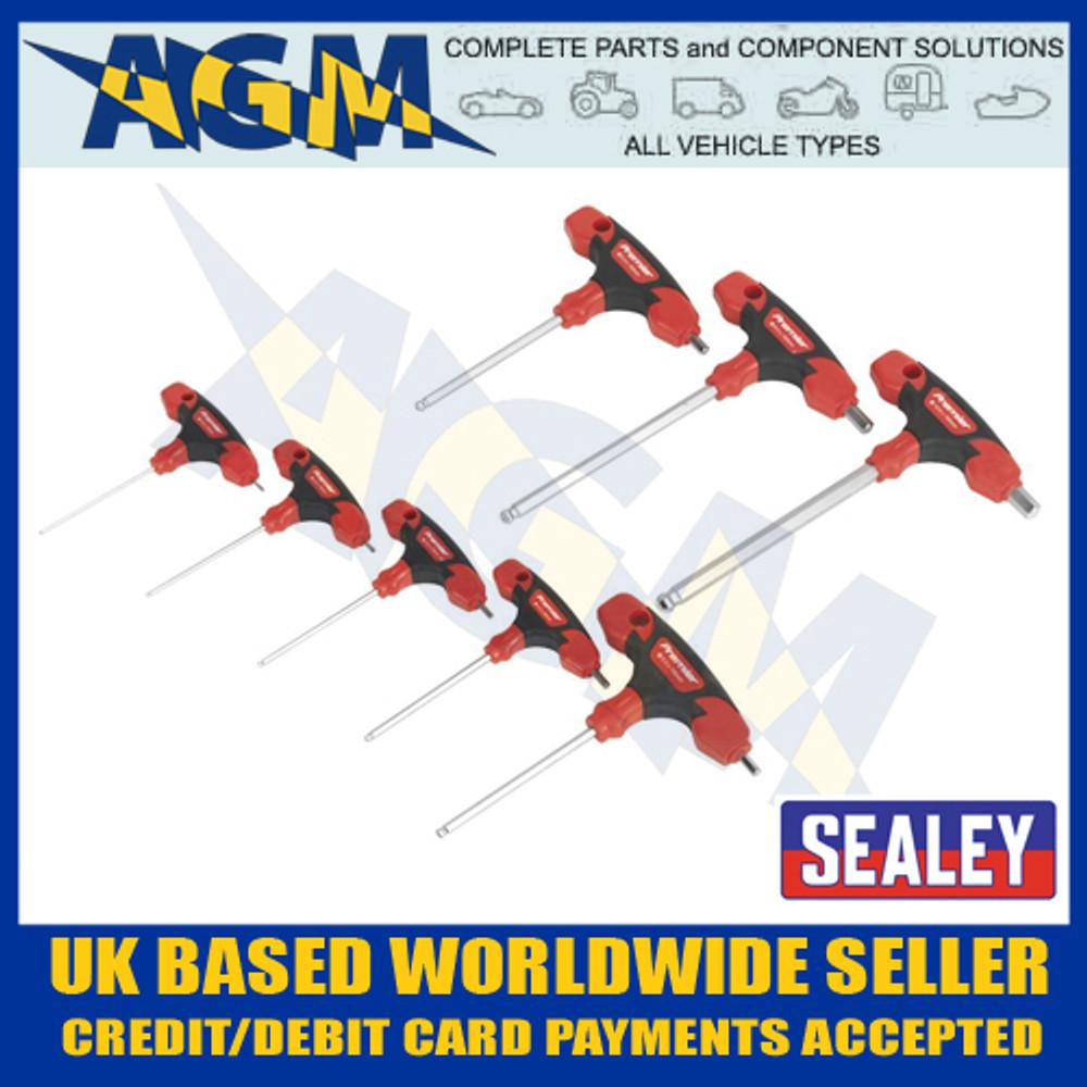 Sealey AK7144 Ball End Hexagen Hex Allen Key Set 8 pc Kit with T Handles Metric