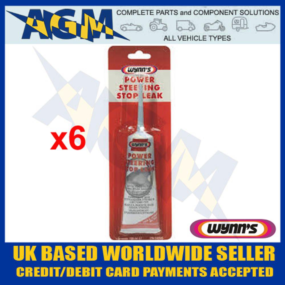 Wynns Professional 64505 Power Steering Stop Leak - 125ml Tube (Pack of 6)