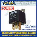 durite, 072702, 0-727-02, 12v, relay, mini, make, break, relay