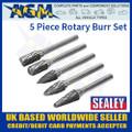 SDBK5 Sealey 5 Piece Rotary Burr Set