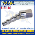 "Sealey ACX91 Screwed Swivel Adaptor Female 1/4""BSPT"