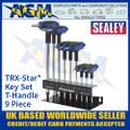 Sealey AK7196 TRX-Star* Key Set, T-Handle