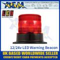 LED Autolamps EQPR10RBM Red LED Warning Beacon 12v/24v - 3 Bolt Fix