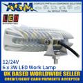 LED Autolamps 16018WM Rectangular 6 x 3W LED Work Lamp, White, Back