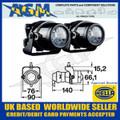 Hella 1NL 008 090-821 Micro DE Fog Lamp Set Inc Fitting Kit