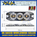 LED Autolamps LPR103DVA Low Profile 3-LED Warning Lamp - Amber - 12/24V