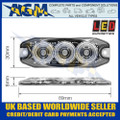 LED Autolamps LPR103DVW Low Profile 3-LED Warning Lamp - White - 12/24V
