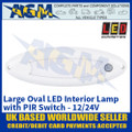 LED Autolamps Large Oval LED Interior Lamp with PIR Sensor - 12/24V
