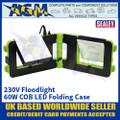 Sealey LED192T Floodlight 60W COB 230V Folding Case